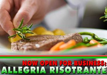 Allegria Open for Business