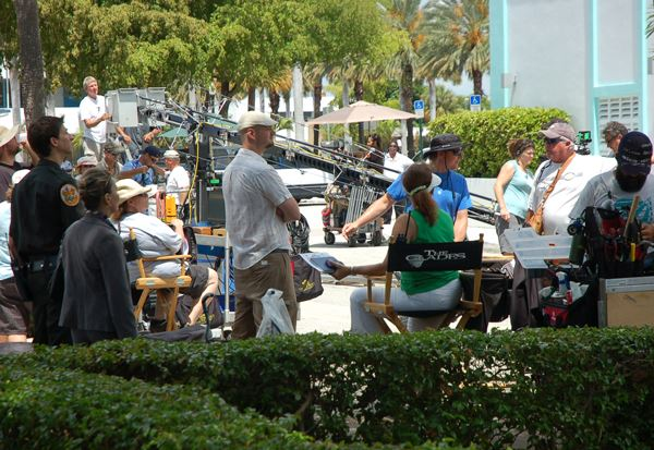 Movie being filmed at City Hall